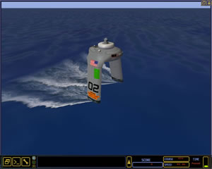 DARPA integrated a conceptual ACTUV and its tactics simulator into the 'Dangerous Water' strategy game to assess potential operating tactics employed by gamers.