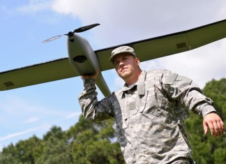 The NOVA Block III UAS from `altavian is used by US Army Engineers to monitor aquatic habitats in Florida.