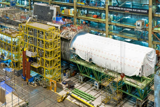 Fourth Astute class submarine, Audacious, under construction in the Devonshire Dock Hall
