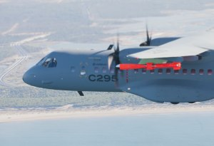 In July 2012 the C295 maritime patrol aircraft was first demonstrated in a potential armed configuration, flying with an instrumented Marte MK2/S anti-ship missile under its left wing.