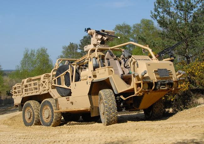 Supacat HMT 6x6 SOV was selected for testing for the REDFIN JP project. Photo: SUpacat