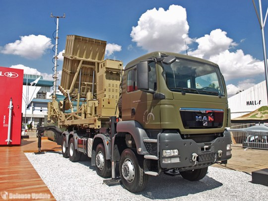 Mobile version of the Iron Dome can cover a wider area and rapidly reposition against new threats. Provided with a full multimission radar, it can also perform air defense missions. Tamir Eshel, Defense-Update