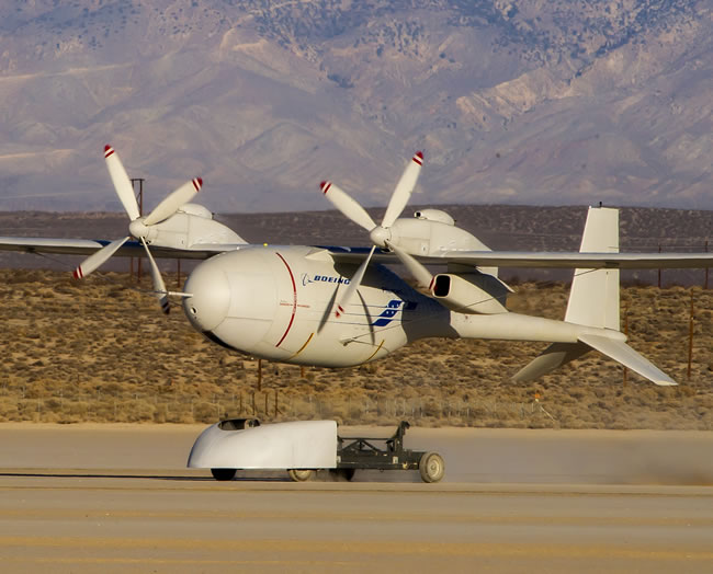 Boeing's liquid hydrogen-powered Phantom Eye unmanned airborne system completed its second flight Feb. 25, 2013