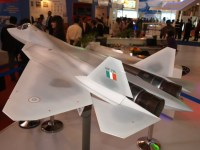 Another view of the T-50/PAK-FA in Indian Colors.