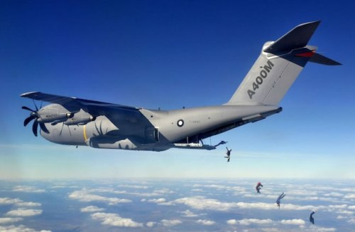 A400M is a high-speed transport aircraft powered by four turboprop engines.  It  is designed to meet the harmonised needs of European NATO nations and which equally fulfils the requirements of other air forces around the world. Photo: Airbus