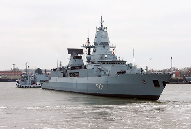 As of January 2013 the German Navy F-124 frigate (F-221) is currently serving as the flagship of NATO Standing Maritime Group 1. The frigate will be part of the modernization of the F-124 program. Photo: German Navy