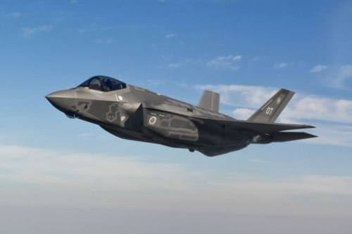 An F-35A aircraft slated for Operational Test at Nellis AFB, Nev., completes a check flight from the Fort Worth, Texas, F-35 factory Oct. 15, 2012.