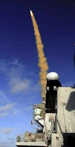 HMS Daring, fires her groundbreaking new air defence missile Viper for the first time.
