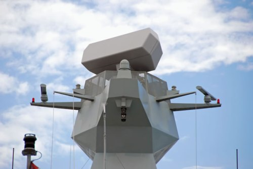 SMART-S Mk2 radar, installed on HDMS Absalon, the first of the Flexible Support Ships of the Royal Danish Navy. Photo: Thales
