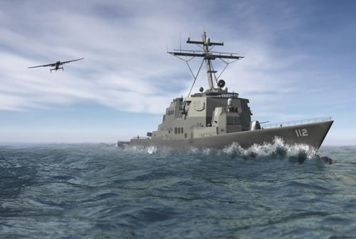 DARPA wants to introduce a new class of MALE UAS that will be able to deploy from destroyer and frigate size vessels, such as the Independence Class Littoral Combat Ship (LCS-2),extending the Naval ISR and strike capabilities to deploy faster and farther, anywhere in the world. DARPA Artist concept