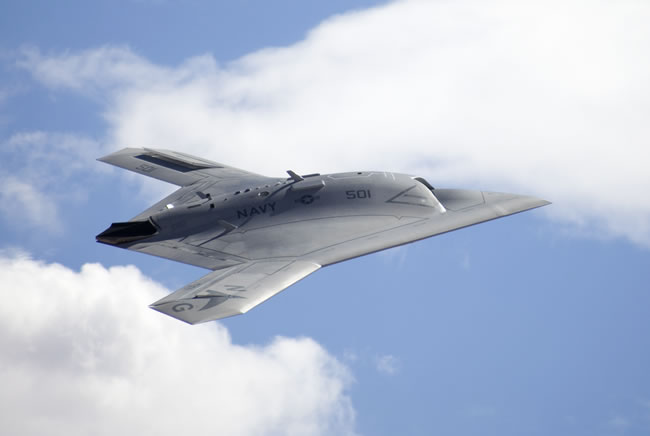 Northrop Grumman X-47B Unmanned Combat Air System selected by the US Navy to demonstrate carrier operations of an unmanned aircraft. Photo: Northrop Grumman