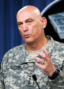 General Odierno wearing the UCP uniform. Photo: US Army