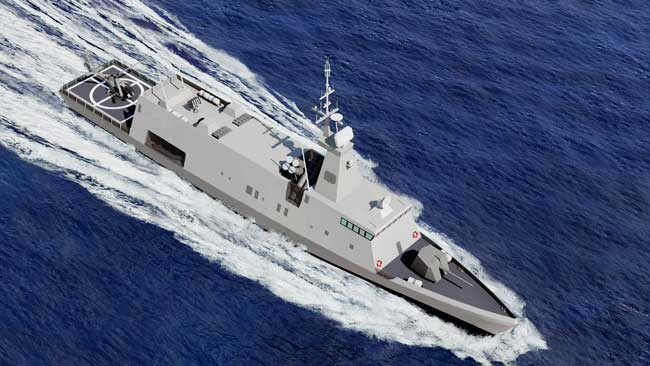 The military version of SAAR S-72 mini corvette will be able to carry the latest weaponry required for a modern navy