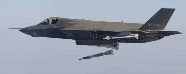 First release of a GBU-12 from the F-35B. Photo: Lockheed Martin