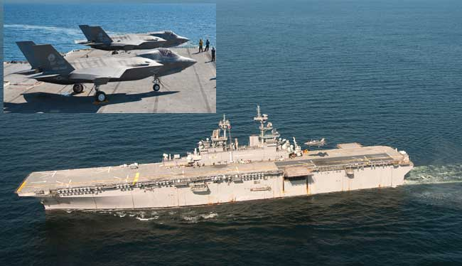 Two F-35B STOVL fighters performed sea trials with USS Wasp LHD in October 2011. Following these tests the Navy recommended a list of modifications to be performed on its amphibious support vessels before they can accommodate the STOVL JSF.