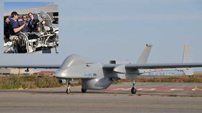 The IAI Heron 1 UAV was employed on a maritime surveillance test test recently, where the drone was flown in non segregated airspace using satellite communications control. Photos: Spanis MOD