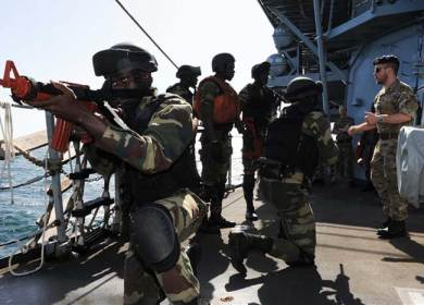 dozen organizations and agencies gathered at the Admiral Faye Gassama Naval Base in Dakar to explore maritime security issues as part of Exercise Saharan Express 2013. Photo: AFRICOM