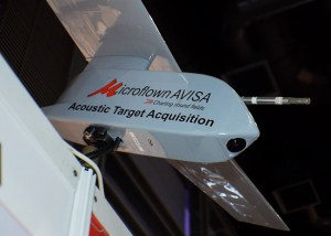 An integration of Acoustic Vector Sensor on an Unmanned Aerial Vehicle will son begin in India, under cooperation between Microflown-Avisa and an Indian military research agency.