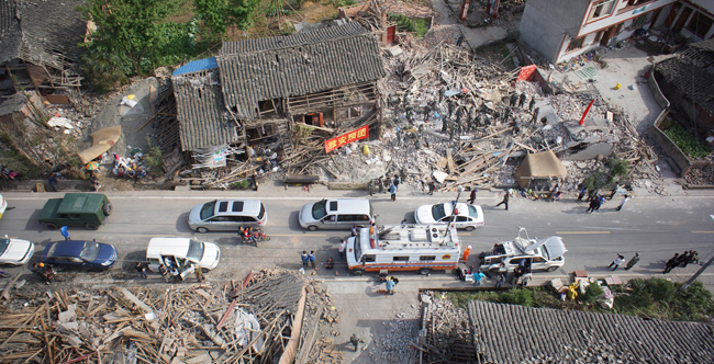 Images collected from EWATT surveillance drones during emergency response in China, April 2013