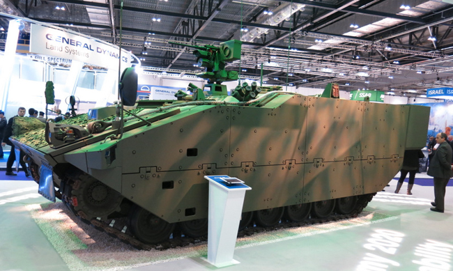 FRES SV was shown by General Dynamics at the DSEI 2013 event