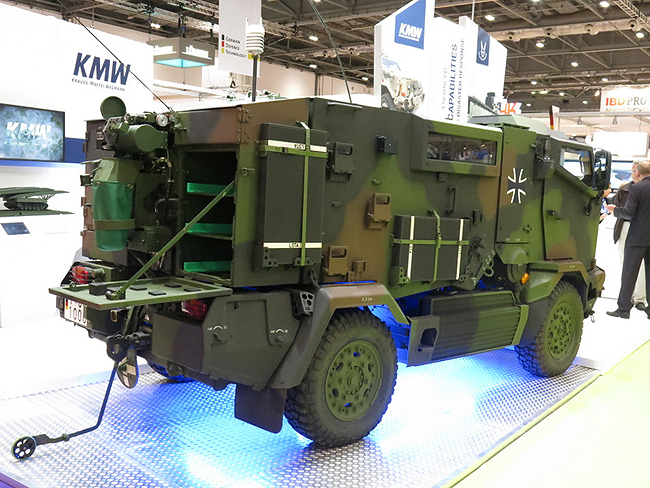KMW displayed a CBRN Recce variant of the MUNGO specialist vehicle
