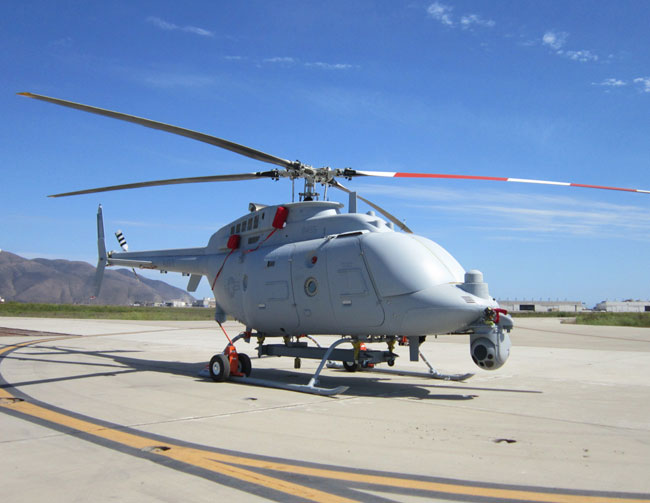 MQ-8C awaiting the first flight at Point Mugu, CA. Following the maiden flight the aircraft will enter a rigorous test schedule before being deployed at sea. The Navy expects it to be ready for deployment by the fourth quarter of fiscal year 2014. Following the initial testing the MQ-8C will be integrated into the Guided Missile Destroyer (DDG) for maritime assessment. Photo: US Navy