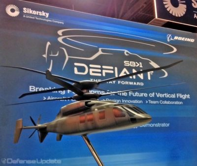 Sikorsky and Boeing will develop the Defiant, utilizing the X2 technology, combining counter-rotating rotor design with pusher prop providing the forward speed. Photo: Tamir Eshel, Defense-Update