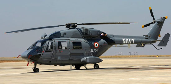ALH Dhruv configured for naval operations.