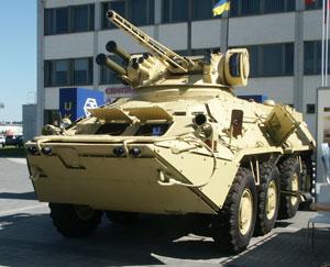Ukrainian BTR-3E1M in desert camouflage.