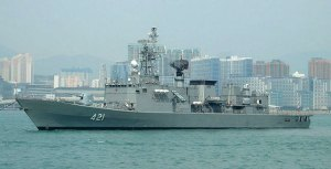 The HTMS Naresuan frigate was delivered from China in 1995.