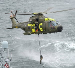 Eight AW101 SAR Model 512 are operated by the 722 squadron of the Royal Danish Air Force. Photo: AgustaWestland