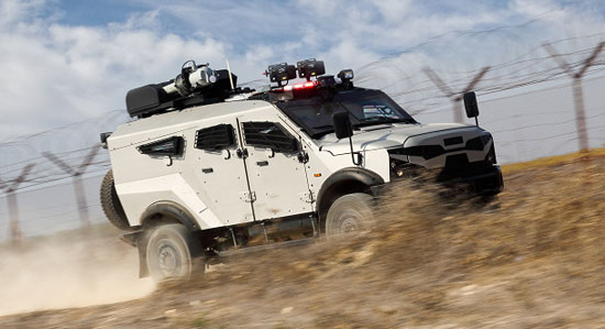 Plasan Security Solutions has integrated and customized security vehicles for a wide range of paramilitary and homeland security applications. Photo: Plasan