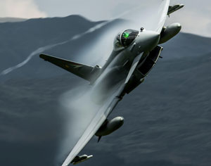 This photo of a low-level flying RAF Typhoon, taken by dan Kemsley, was the winning photo of the Eurofighter photo competition. Photo: Eurofighter, By Dan Kemsley