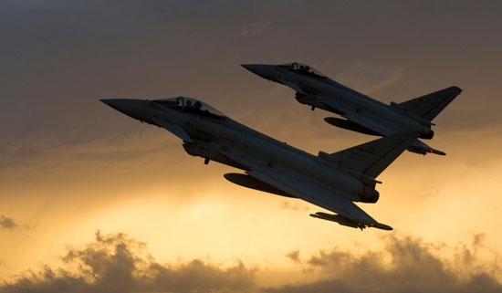 Italian Eurofighter Typhoons at Gioia del Colle.  400 Typhoons have been delivered to customers in Europe and the Middle East to date. Photo: Eurofighter / Planefocus