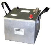 Drop-in e6T Li-ion battery Saft, originally developed for military vehicle applications, is now being tested on commercial vehicles. Photo: Saft