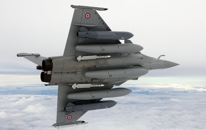 In the current configuration Rafale carries two Scalp cruise missiles or four Hammer guided weapons, with four MICA air-to-air missiles. Photo: French Air Force