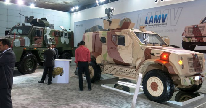 The Light Armored Medium Vehicle designed by DRDO and built by Tata Motors was displayed for the first time at Defexpo 2014. Photo: Tamir Eshel, Defense-Update