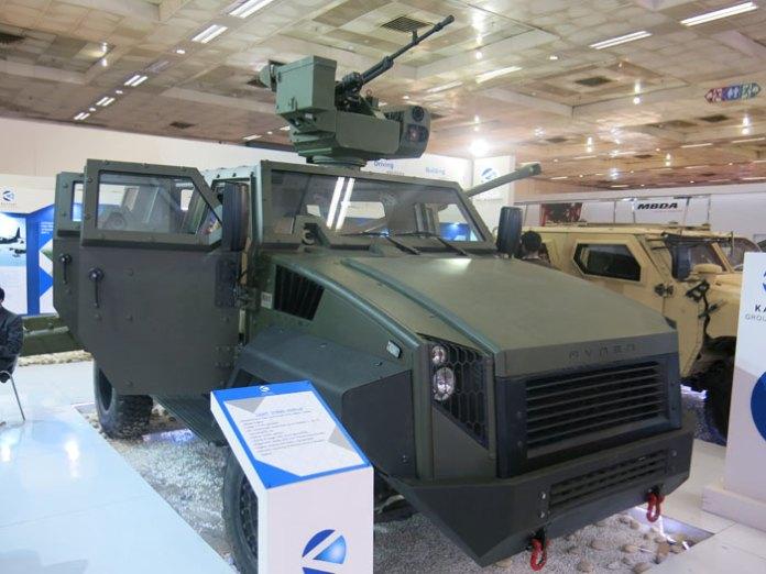 The Raven Light Strike Vehicle, displayed by Kalyani Group is based on MDT's Tiger. Photo: Tamir Eshel, Defense-Update