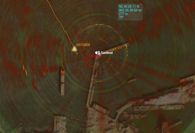 Once deployed, Sentinel provides autonomous monitoring of its surrounding over 360° and at long range, and low false alarm rates. Photo: Sonardyne