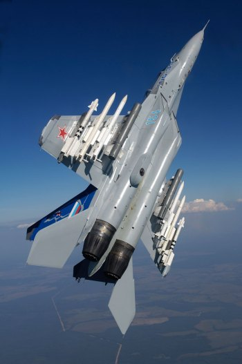 The Russian United Aircraft Corporation has been offering the MiG-35 to a number of international customers, but sofar this 'super Fulcrum' failed to gain international orders. The Russian Air Force is expected to place the first order by 2016, if it fails to secure funding for more sophisticated and stealthy 'light advanced fighter'. Photo: RAC