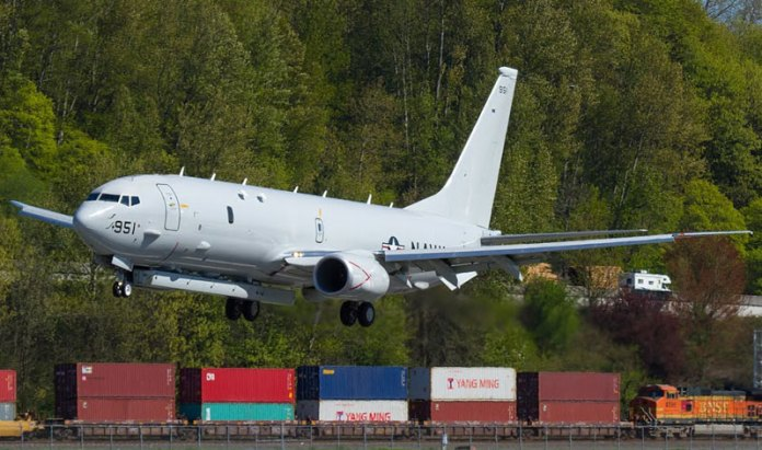 Boeing and the US Navy began testing an Advanced Airborne Sensor (AAS) radar system for the P-8A Poseidon maritime surveillance and anti-submarine warfare (ASW) aircraft. Photo: Russell Hill