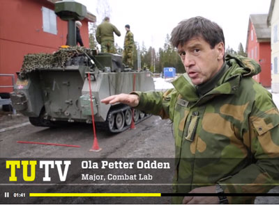 Odden said that within two or three years such an application could be technically mature for military qualification and ruggedization, and make it ready for use in traffic. Photo: Eirik Helland Urke, TU.NO