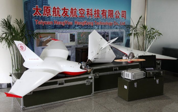 The mini drones operated by North Korea over South Korea are the SKY 09 made in China by the Taiyuan Navigation Technology company. The models operated by North Korea was equipped with a muffler, to reduce the drone's acoustic signature. Photo: Taiyuan