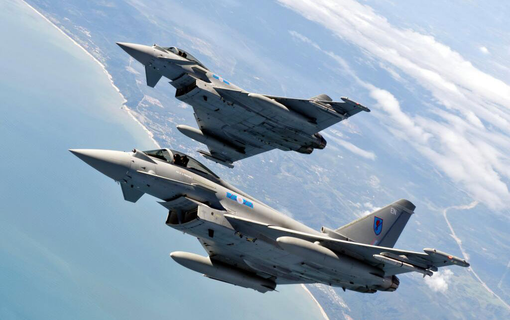 No 6 squadron is one of two units stationed at RAF Leuchars as part of the UK quick alert force. Photo: RAF