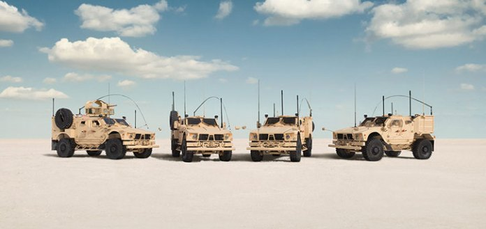 Collectively, the new Globl M-ATV family meets a wider range of protection, performance, payload and transportability requirements for peacekeeping, internal security, border security, special forces, counterinsurgency and conventional military operations Photo: Oshkosh Defense