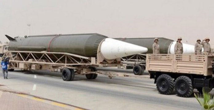 DF-3A ballistic missiles unveiled at a military parade in Saudi Arabia April 29, 2014