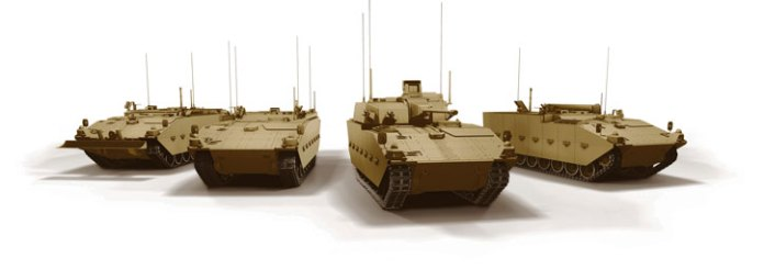 The Scout SV family of vehicle. The first members of the family will include an infantry carrier, scout vehicle, command and recovery variants. Photo: GDUK