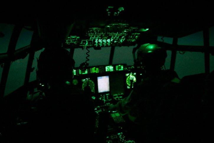 RAF C-130 Hercules air dropping emergency aid over northern Iraq. Photo: Cpl Neil Bryden RAF