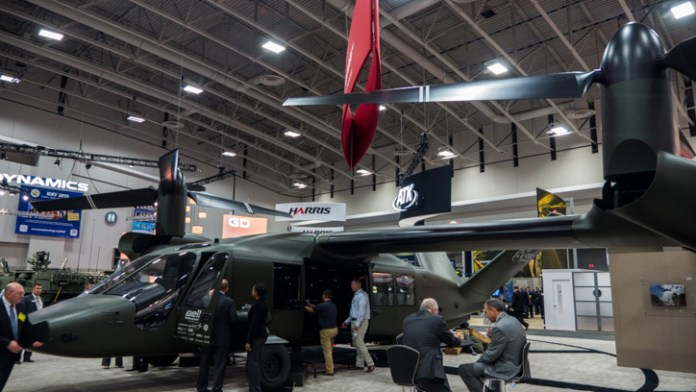 Bell has unveiled a full scale model of the next generation tilt-rotot - V280 Valor