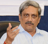 India's defence minister Manohar Parrikar